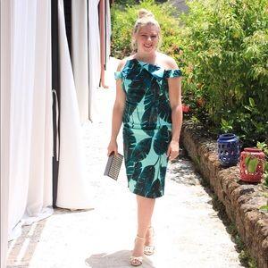 ASOS Palm print scuba dress